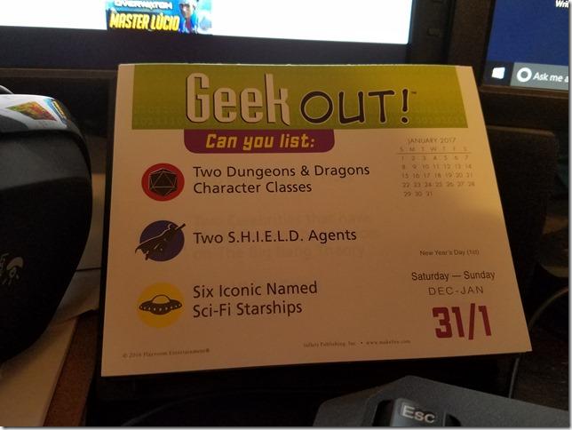 2017-01-01 Geekout