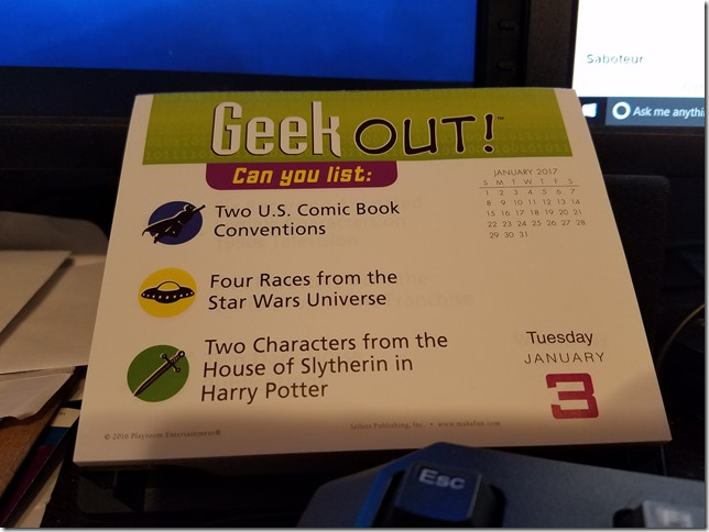 2017-01-03 Geekout
