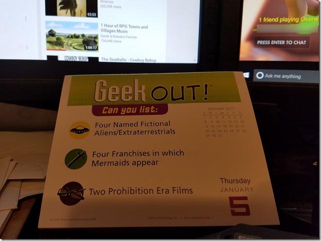 2017-01-05 Geekout