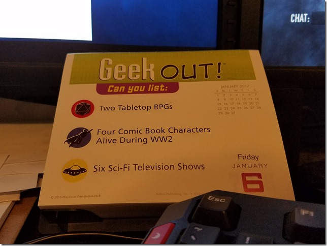 2017-01-06 Geekout