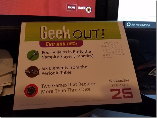 2017-01-25 Geekout