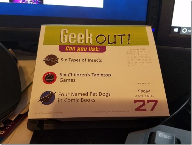 2017-01-27 Geekout