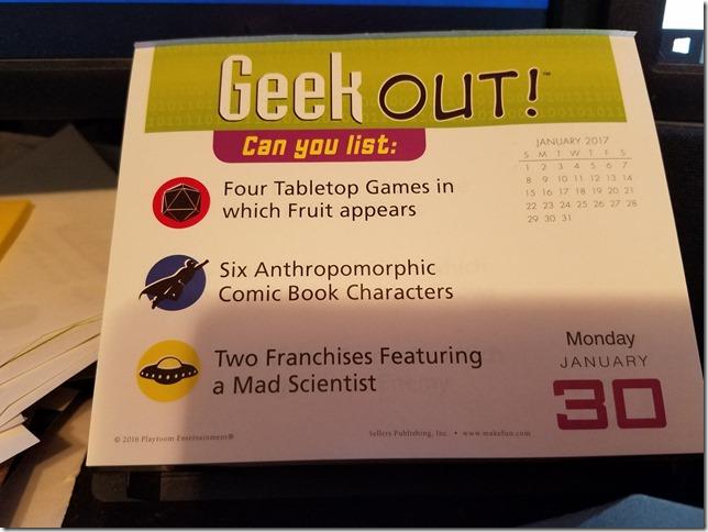 2017-01-30 Geekout