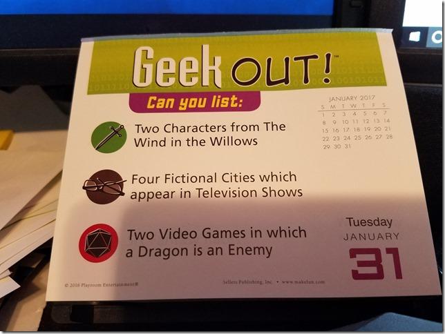 2017-01-31 Geekout