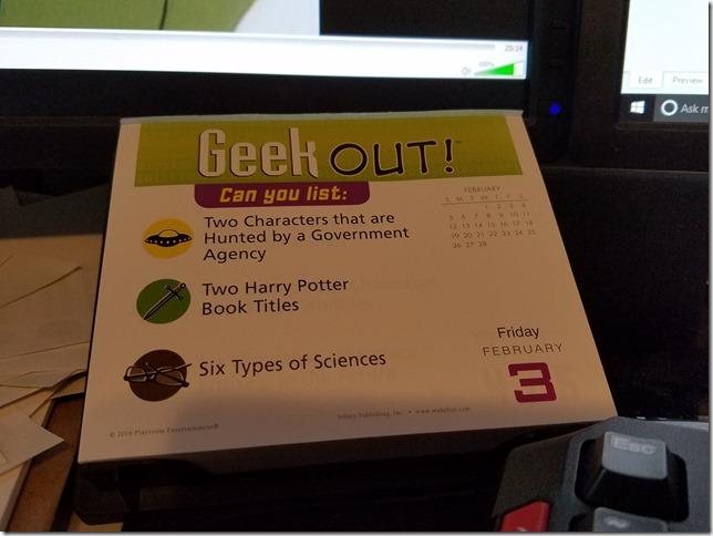 2017-02-03 Geekout